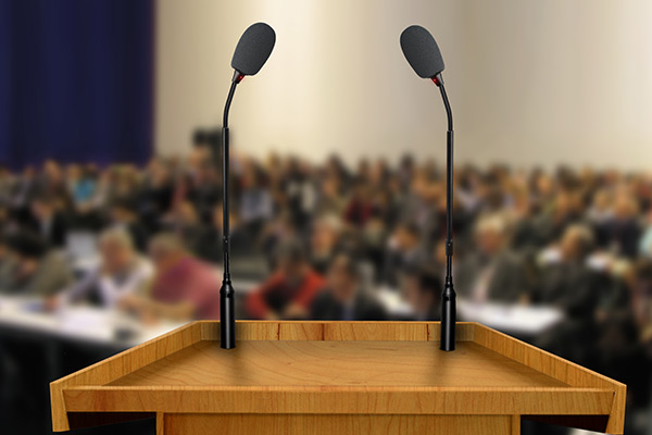 Picture of Podium at Lecture